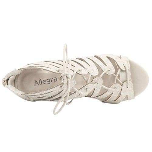 Donna Col K Bianco Scarpe Allegra Tacco pBxwIqYBT