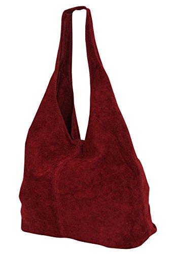 WL818 Bolso burdeos para hombro cuero de para mujer xwUnYwq0Tr