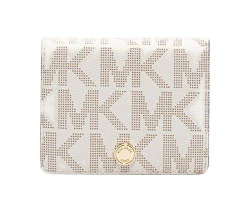 Michael Kors Jet Set Travel Flap Card Holder (Vanilla Logo)