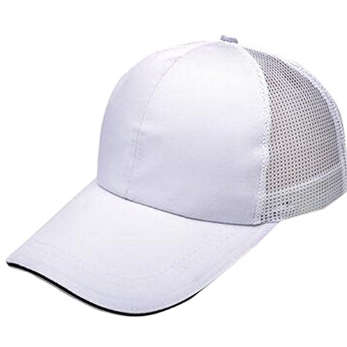 blanco de nbsp;Gorras del blanco nbsp;– nbsp;– 60cm Fablcrew protegerte nbsp; deportes sol y hip 56 malla nbsp;blanco practicar hop con de ajustables unisex béisbol 50 para n4pXfxZqw