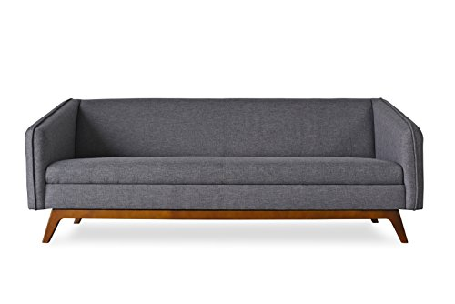 ST. ALBANS Modern Sofa - Mid-Century Modern Sofas for Living Room - Charcoal Grey Fabric