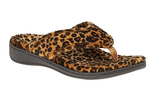 Vionic Bliss Womens Orthotic Slipper Sandals Tan Leopard 8 46BLISS