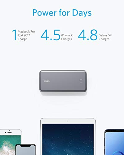 Anker PowerCore+ 19000 PD Hybrid Portable Charger and USB-C Hub with Included USB-C Wall Charger, Power Delivery Power Bank Compatible with Nexus 5X / 6P, iPhone Xs/XR/X / 8, MacBooks, and More by Anker (Image #2)