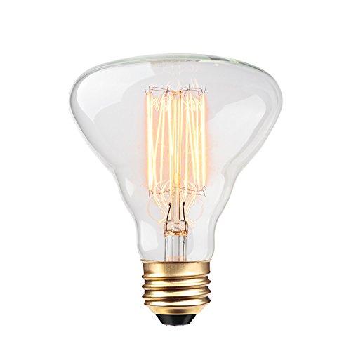 Globe Electric 40W Clear Designer Vintage Edison Labo Incandescent Light Bulb, E26 Base, 140 Lumens, 84654
