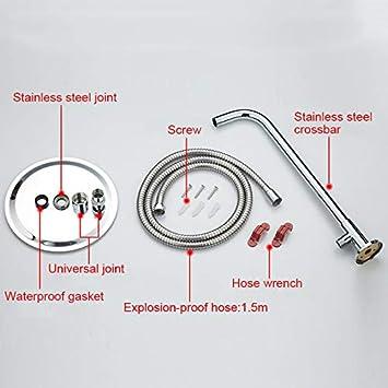 20 cm Crewell tondo quadrato in acciaio INOX ultra-sottile soffioni 10/8/15,2/cm soffione doccia a risparmio idrico Square