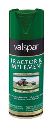 Valspar 5339-10 Tractor and Implement Spray Paint, JD Green, 12 oz.