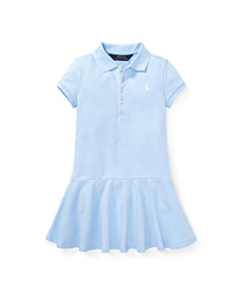 81db7034cd Amazon.com: Ralph Lauren Girls Short-Sleeve Polo Dress, Elite Blue ...