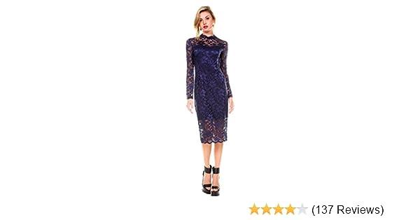 9a4c00b45d1 Amazon.com  Stanzino Women s Long Sleeve Lace Dress  Clothing