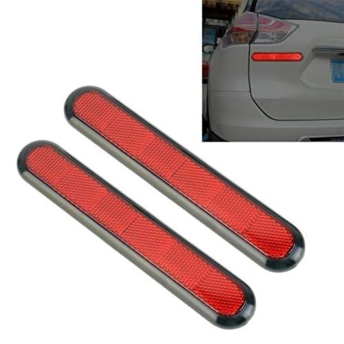 e generix Universal Car Plastic Reflector Warning Sticker Set of 2 Pieces