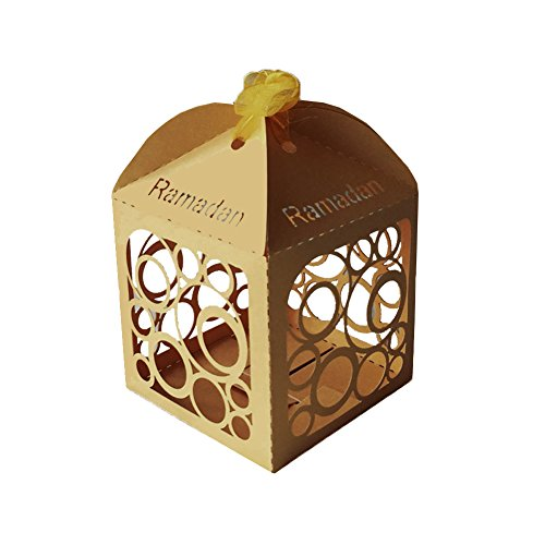 Ramadan Party Favor Decoration Lantern Mini Boxes (Pack of 10)