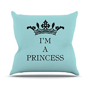 "Kess InHouse Louise Machado ""I'm a Princess"" Outdoor Throw Pillow, 16 by 16-Inch"