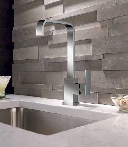 DuBeta Modern Design Chrome Plated Single Handle Single Hole Hi-Arc Kitchen Faucet Single Hole Installation