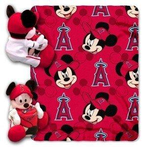 Los Angeles Angels of Anaheim Disney Hugger Blanket - Licensed MLB Baseball Gift - Angel Hugger