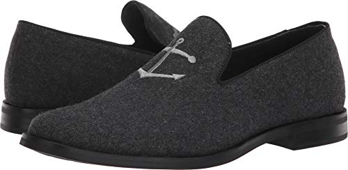 Sperry Men's Overlook Textile Smoking Slipper Loafer, Grey Wool, 9.5 M US
