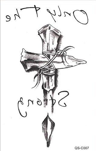 Hombres Tattoo Negro Cuchillo