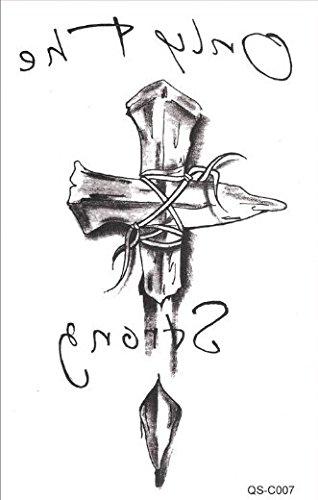 Hombres Tattoo Negro Cuchillo Only the Strong brazo tatuaje ...