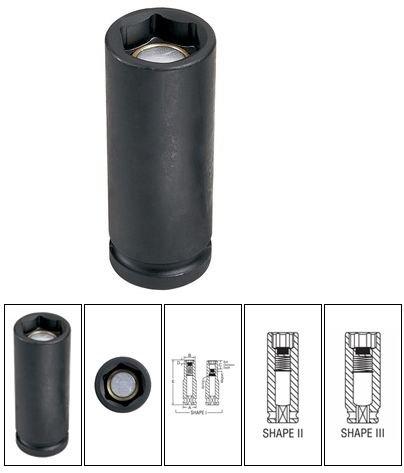 Grey Pneumatic (2021MD) 1/2' Drive x 21mm Deep Socket