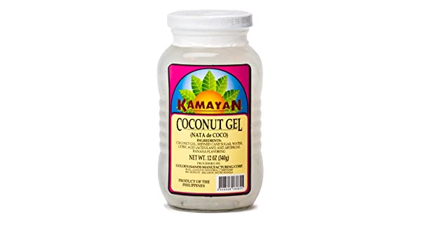 Amazon.com : Kamayan Coconut Gel (Nata De Coco) 340g : Dessert Toppings : Grocery & Gourmet Food