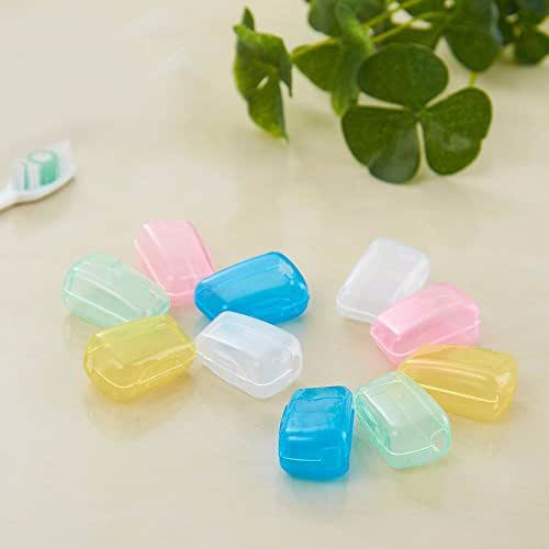 NszzJixo9 Toothbrush Cover 5 Piece Set Portable Travel Toothbrush Cover Wash Brush Cap Case Box Toothbrush Cover Wash Brush Cap Case Box Bathroom