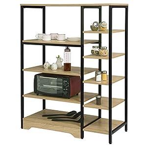 eSituro Étagère de Rangement Multi-usages,étagère d'échelle pour Salle de Bain Cuisine Couloir,90x40x119cm