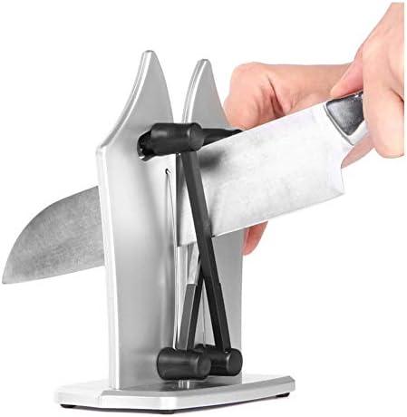 包丁研ぎ器、包丁研ぎ器、ストーンナイフグラインダー炭化タングステンとステンレス鋼400 g / 0.88ポンド