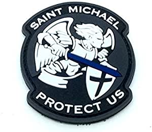 Saint Michael Protect Us Crusader - Parche para Airsoft (PVC), Color Negro: Amazon.es: Deportes y aire libre