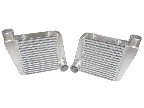 [CXRacing Twin Turbo Intercooler For Chevelle Malibu El Camino Impala Bel Air Camaro Nova] (Twin Turbo Camaro)