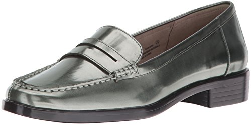 Aerosoles Women's Main Dish Penny Loafer, Dark Silver Metal, 6 M US (Horizon Oxford)
