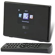 Ocean Digital WiFi Internet Radio Adapter Tuner Receiver IRT01C Wireless Connection Desktop Media Player Alarm Clock- Black