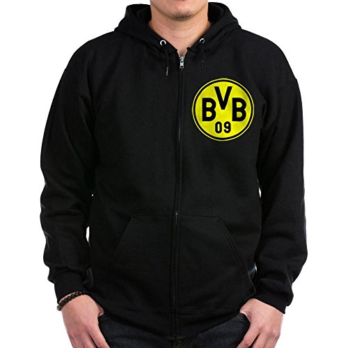 CafePress - Borussia Dortmund Zip Hoodie (dark) - Zip Hoodie, Classic Hooded Sweatshirt with Metal Zipper