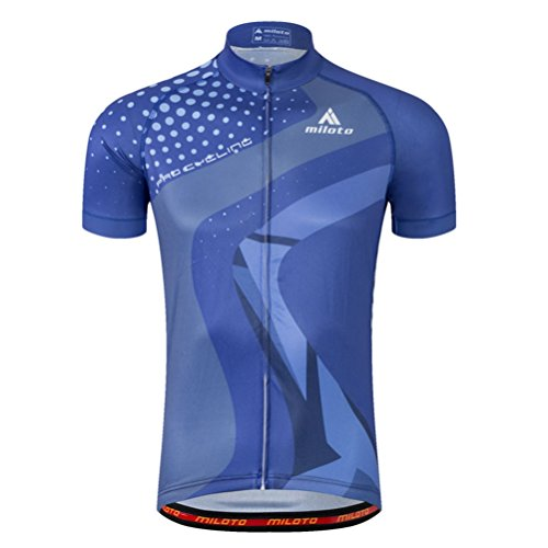 Uriah Men's Cycling Jersey Short Sleeve Reflective Blue Hill Size XL(CN) ()