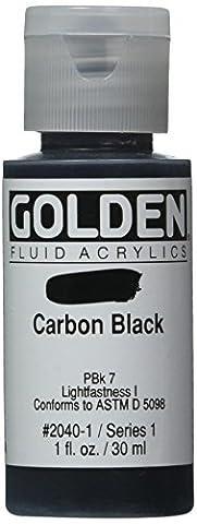 Golden Fluid Acrylic Paint 1 Ounce-Carbon Black (Acrylic Golden Paint)
