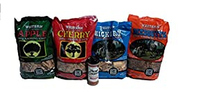 Western Variety Smoking Chips Free Head Country Original Championship Seasoning Bundle (4) - Apple, Cherry, Hickory, Mesquite by Western Wood Chips