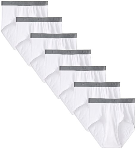BVD Men's 7 Pack Brief, White, ()