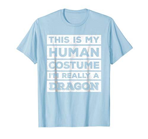 Breathing Fire T-shirt Dragon (Human Costume Dragon Fire Breathing Beast Wings T-Shirt)