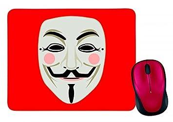 """Alfombrilla de ratón """"Fawkes Fawkes Máscara de muñeco de Anonymous de color de"""