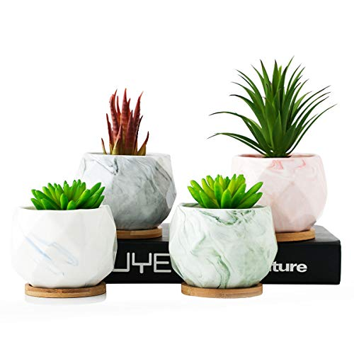 Marble Ceramic Planter Pot,Drainage Cactus Pots Home for sale  Delivered anywhere in USA