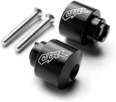 Krator Black Bar Ends CBR Engraved Hand Grip Handlebar For Honda CBR 600 F1//F2//F3//F4//F4i 1987-2006