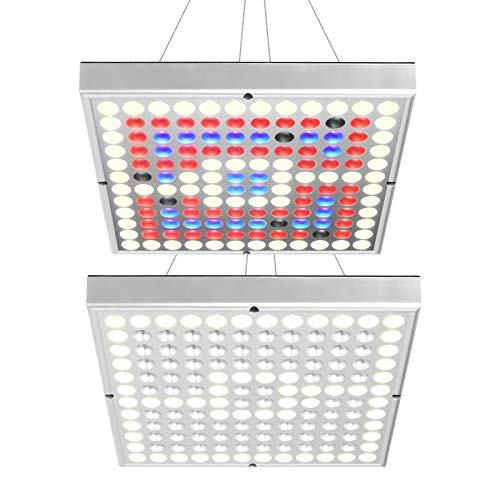 LED Grow Light, KORAM 2pcs 45W Full Spectrum for Indoor Plant Hydroponics Greenhouse Growing Lamp Panel for Veg and Flower
