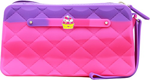 Scented Wristlet Purse - Yummy Gummy Silicone Clutch & Fro-Yo Jewel - Style: Sprinkles - Bubble Gum Scent