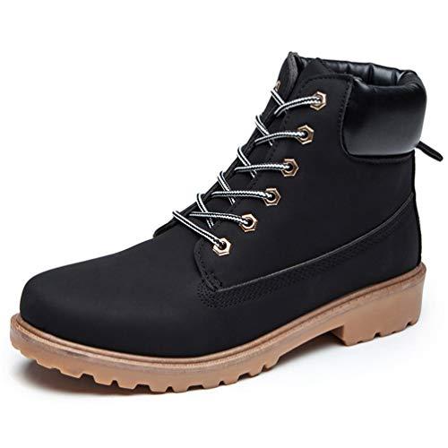 Tobillo De De Zapatos Mujer Negro Botas Nieve Botas Felpa Altas De De Nieve Invierno De Botas Impermeables De OtoñO Botas De De Rojo con Cordones qWUwP7z