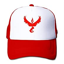 Fashion All Pokemon GO Team Logos Team Valor Cutout No Outside Adult Nylon Adjustable Mesh Hat Mesh Cap Black One Size Fits Most