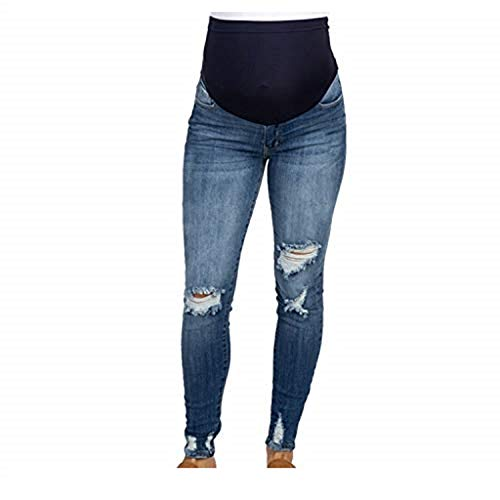Legging Jeans for Women,Pregnant Woman Ripped Jeans Maternity Pants Trousers Nursing Prop Belly Legging,Plus-Size Maternity Intimate Apparel