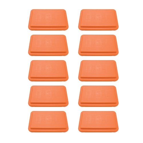 Fitness Aerobic Steps 4 Inch Orange - 10 Pack by Athletic Connection