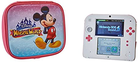 Nintendo 2DS – Peach Pink with Disney Magical World Carrying Case