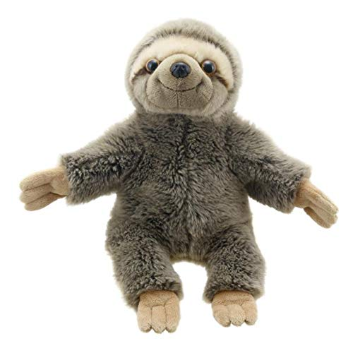 The Puppet Company - Full Bodied Animals -Sloth Toy, Brown