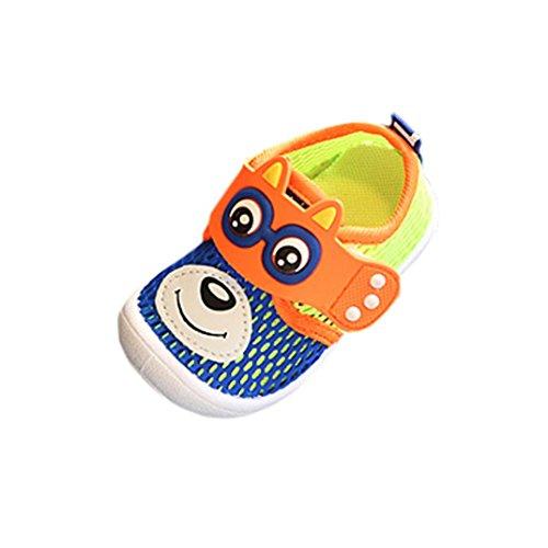 Hunpta Kleinkind Kinder Kinder Baby Bär Muster Single Schuhe Sandalen Sneaker Blau