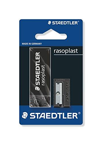 Staedtler Rasoplast 5269-S1BK Eraser and Sharpener Set - Black by Staedtler
