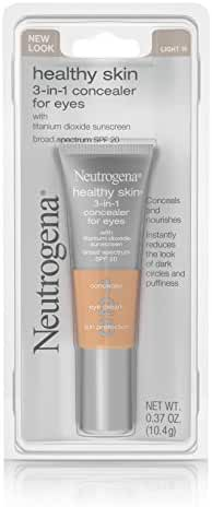 Neutrogena Healthy Skin 3-In-1 Concealer For Eyes Broad Spectrum Spf 20, Light 10, .37 Oz.