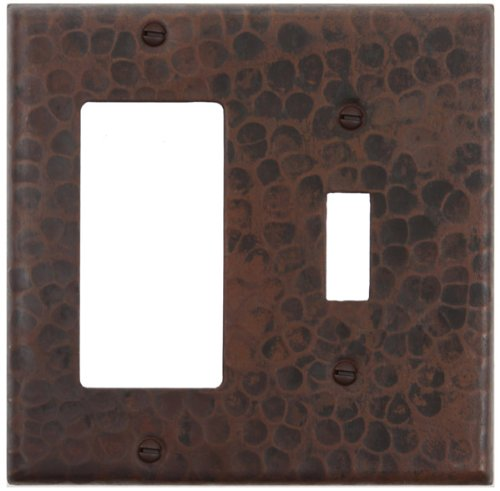 Decora Copper Cover - Hammered Switchplate Cover: 1 Hole Single Toggle Switch and GFI Cover-LSC420